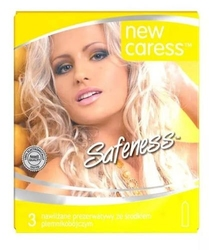 Caress safeness ii prezerwatywy nawilżane x 3 sztuki
