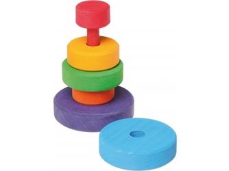 Kolorowa wieża drewniana układanka mini