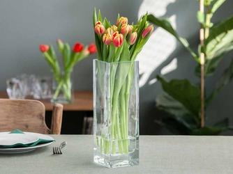 Wazon szklany na kwiaty edwanex kwadratowy 30 cm