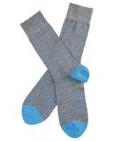 Stylowe szare bawełniane skarpety falke dot w grochy rozmiar 43-46