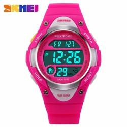 Zegarek dziecięcy SKMEI 1077 ALARM LED pink - PINK