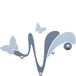 Wieszak ścienny dekoracyjny Butterfly CalleaDesign niebieski 50-13-1-44
