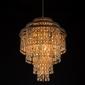 Lampa wisząca w stylu marokańskim, złoty witraż z kolorowymi szkłami mw-light 185010809