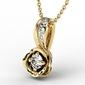 Wisiorek z żółtego złota z brylantem lpw-4221z-r - żółte z rodowaniem  diament