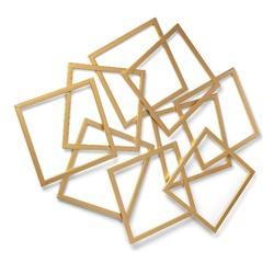 Metalowa dekoracja ścienna mant 94x3 cm złota