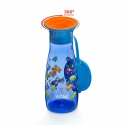 Mini Bidon, 350 ml, Autka, niebieski, WOW