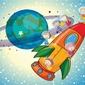 Fototapeta dla dzieci rakieta 1344