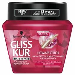 Gliss Kur, Ultimate Color, maska do włosów w słoiku, 300 ml