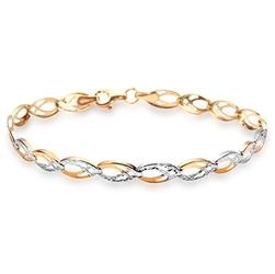 Złota bransoleta pr.333. ogniwa z białego i żółtego złota bxx4851