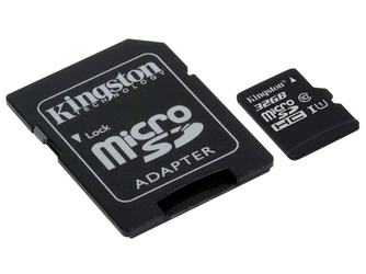 Kingston karta pamięci microSD HC 32GB class 10 + adapter SD