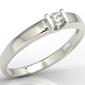 Pierścionek zaręczynowy z białego złota z brylantem jp-9810b