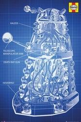 Doctor Who Haynes pojazd Daleków - plakat