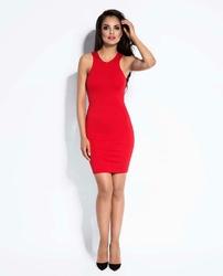 Czerwona Mini Sukienka Bodycon
