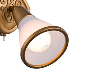 Kinkiet złoty i szkło matowe luther maytoni classic sp008-cw-01-g