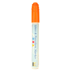 Marker do szkła i porcelany 5,3 ml - pomarańczowy - POM