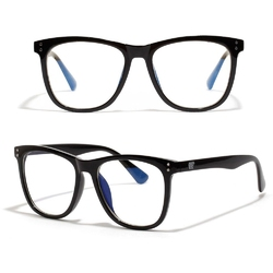 Okulary damskie zerówki czarne nerdy duże kujonki