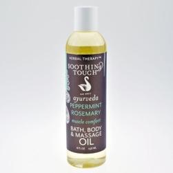 Bio olejek do kapieli i masażu z miętą pieprzową i rozmarynem, 236ml soothing touch