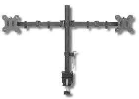 Techly podwójne ramię biurkowe ledlcd 13-27 cali 2x10kg vesa regulowane
