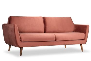 Sofa aster 3-osobowa deluxe - welur łatwozmywalny siena