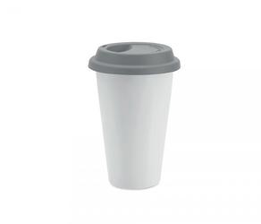 Kubek termiczny ceramiczny tumbi 350 ml białyszary
