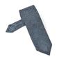 Elegancki stalowoniebieski krawat z grenadyny bez podszewki