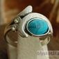 Puke - srebrny pierścionek z turkusem