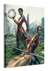 Black Panther Okoye and Nakia - obraz na płótnie