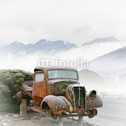 Plakat na papierze fotorealistycznym stara ciężarówka