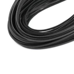 Rzemień płaski 2 mm1m - czarny - cza