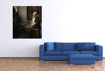 kobieta trzymająca wagę -  jan vermeer ; obraz - reprodukcja