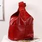 Plecak skórzany damski dan-a t65a czerwony - czerwony
