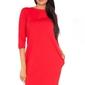 Czerwona dresowa sukienka z wycięciem i kokardą na plecach