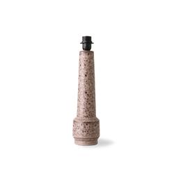 Hkliving baza lampy retro z kamienia, brązowa vol5090