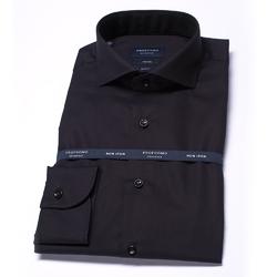 Elegancka czarna koszula męska taliowana SLIM FIT 43