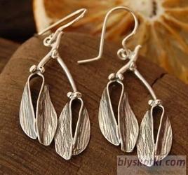 Jemioła - srebrne kolczyki
