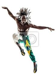 Obraz brazylijski murzyn sylwetka tancerz skoków
