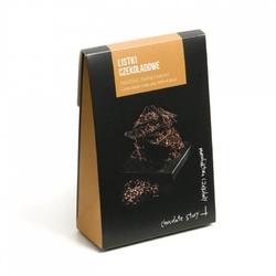 Czekoladowe listki. czekolada mleczna i kakao - wyjątkowo cienkie kawałki czekolady z wybornymi dodatkami, idealny dodatek do prezentu lub elegancki drobny upominek