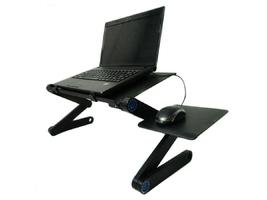 Regulowane biurko aluminiowe składane alogy z wentylatorem na laptop pc