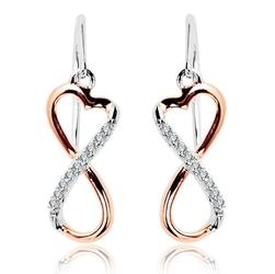 Staviori kolczyki. 18 diamentów, szlif brylantowy, masa 0,07 ct., barwa g, czystość si1. białe, różowe złoto 0,585. wymiary 15x7 mm. długość 25 mm.