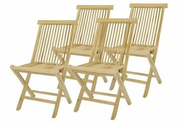 Krzesła zestaw 4 szt. składane krzesła ogrodowe z drewna tekowego