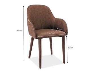 Eleganckie krzesło do salonu toro brown brązowe