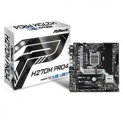 ASRock H270M Pro4 s1151 H270 4DDR4 USB3.02xM.2 uATX