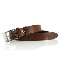 Cienki skórzany pasek do spodni bordrene lic30 brązowy