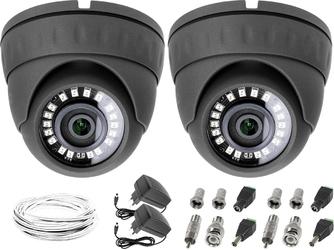 Monitoring sklepu zaplecza 2xkamera lv-al25hd, zasilacze, przewódy, akcesoria
