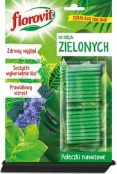 Florovit, pałeczki nawozowe do roślin zielonych, 20 sztuk
