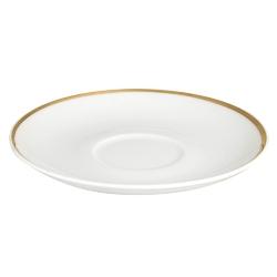 Spodek porcelana mariapaula moderna gold 17 cm ze złotym zdobieniem