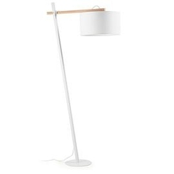 Lampa podłogowa huka biała