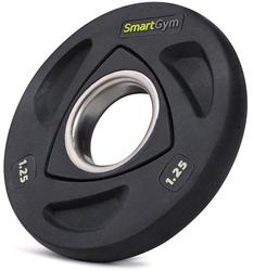 Obciążenie olimpijskie ogumowane hq 1,25 kg - smartgym fitness accessories - 1,25 kg