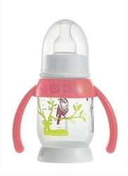 Beaba butelka antykolkowa z uchwytem 120 ml bunny pink
