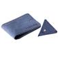 Skórzany zestaw portfel i bilonówka brodrene sw02 + cw01 granatowy - granatowy